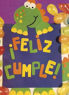 cartel feliz cumple en goma eva manualidades en goma eva