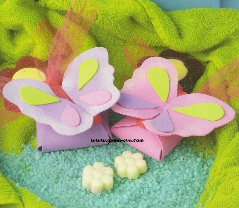 Souvenirs mariposas perfumadas manualidades en goma eva for Materiales para goma eva