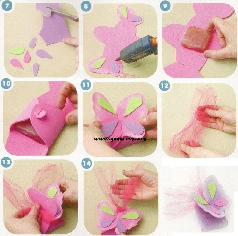 Souvenirs mariposas perfumadas manualidades en goma eva - Como hacer mariposas de goma eva ...