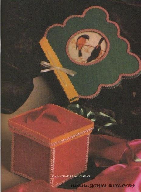 caja cuadrada en goma eva Caja cuadrada en goma eva