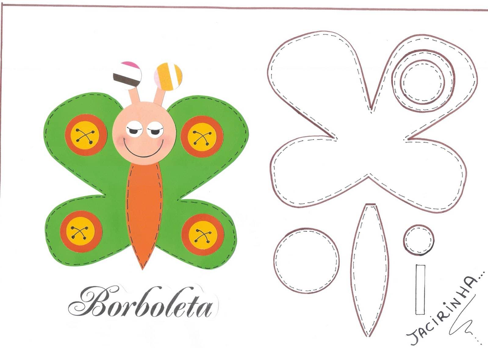 Moldes: Mariposa de goma eva - Manualidades en Goma Eva y Foami