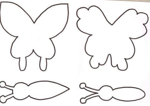 Moldes: Mariposa de goma eva - Todo en Goma Eva