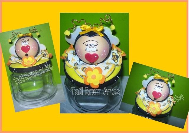 vidro-decorado-em-eva-abelhinha