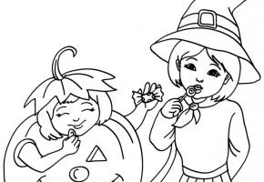 Dibujos de brujas de halloween