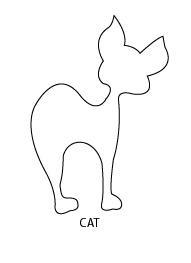 moldes de gatos