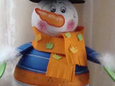 Caramelera Muñeco de Nieve