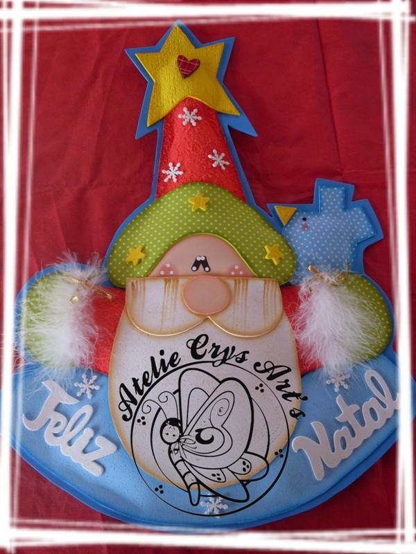 Adorno Papa Noel Feliz Navidad Todo Goma Eva