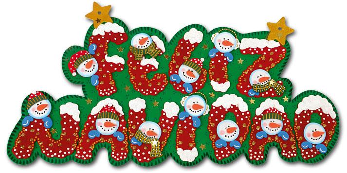 aviso feliz navidad 01 Cartel de Feliz Navidad en Goma Eva