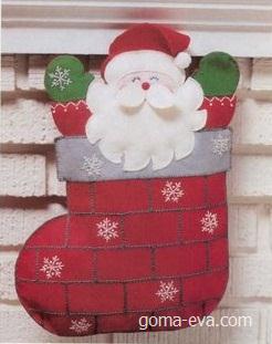 bota de navidad papa noel 1 Bota navideña de Papa Noel