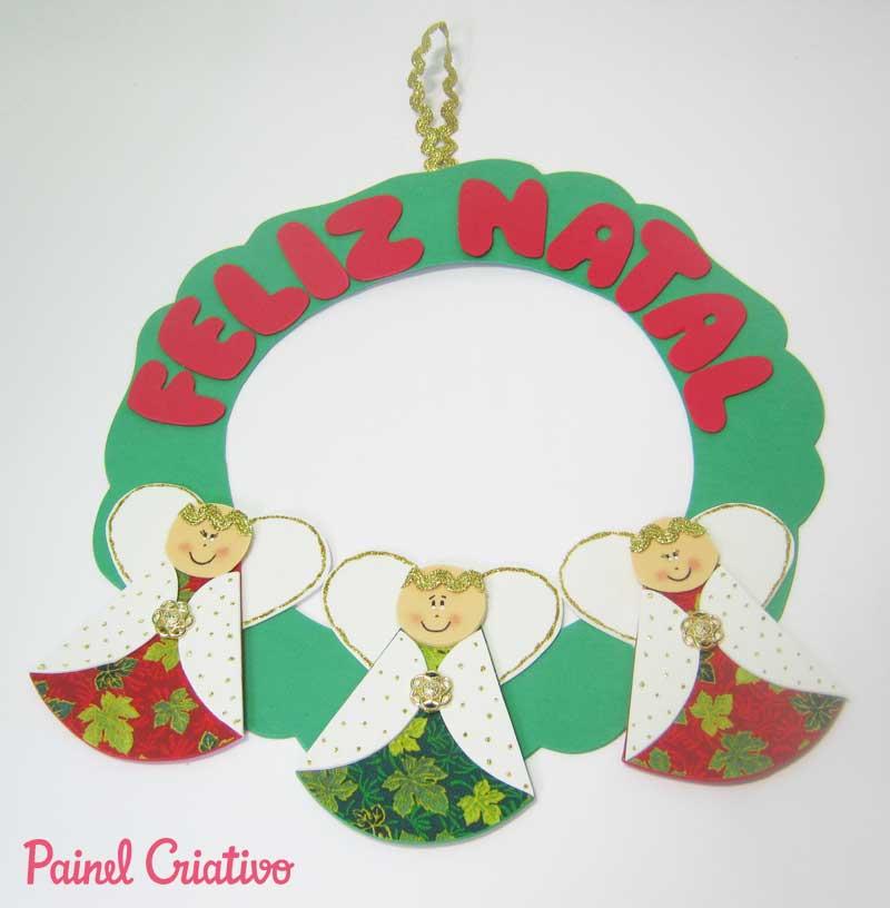 Como hacer guirnalda de navidad en goma eva manualidades - Adornos navidenos de goma eva ...