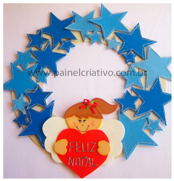 Guirnalda De Navidad Angelito Manualidades En Goma Eva Y Foami