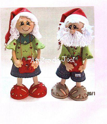 Fofuchos Mama Noel y Papa Noel