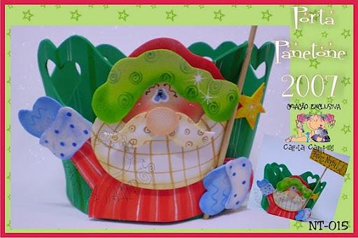 porta panetone papa noel 1 Porta Panetone Papa Noel