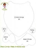 Placa Buho en Goma Eva