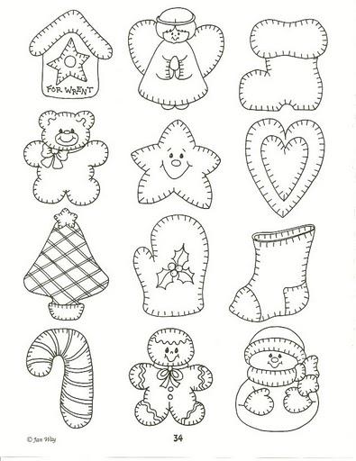 Printable Felt Christmas Ornament Patterns