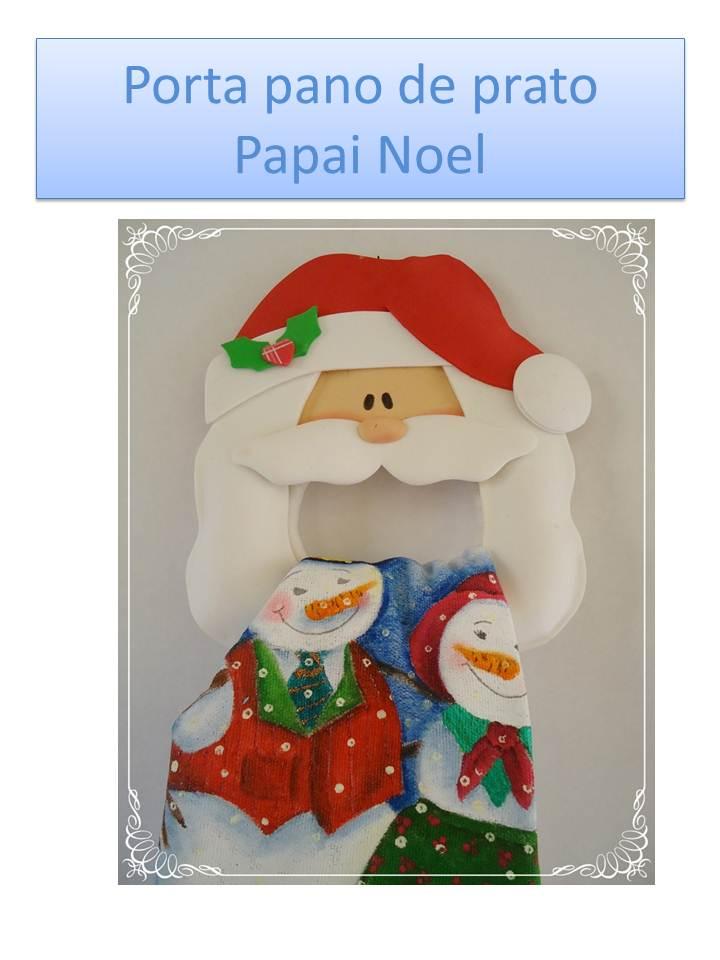 Porta paño de cocina Papa Noel - Manualidades en Goma Eva