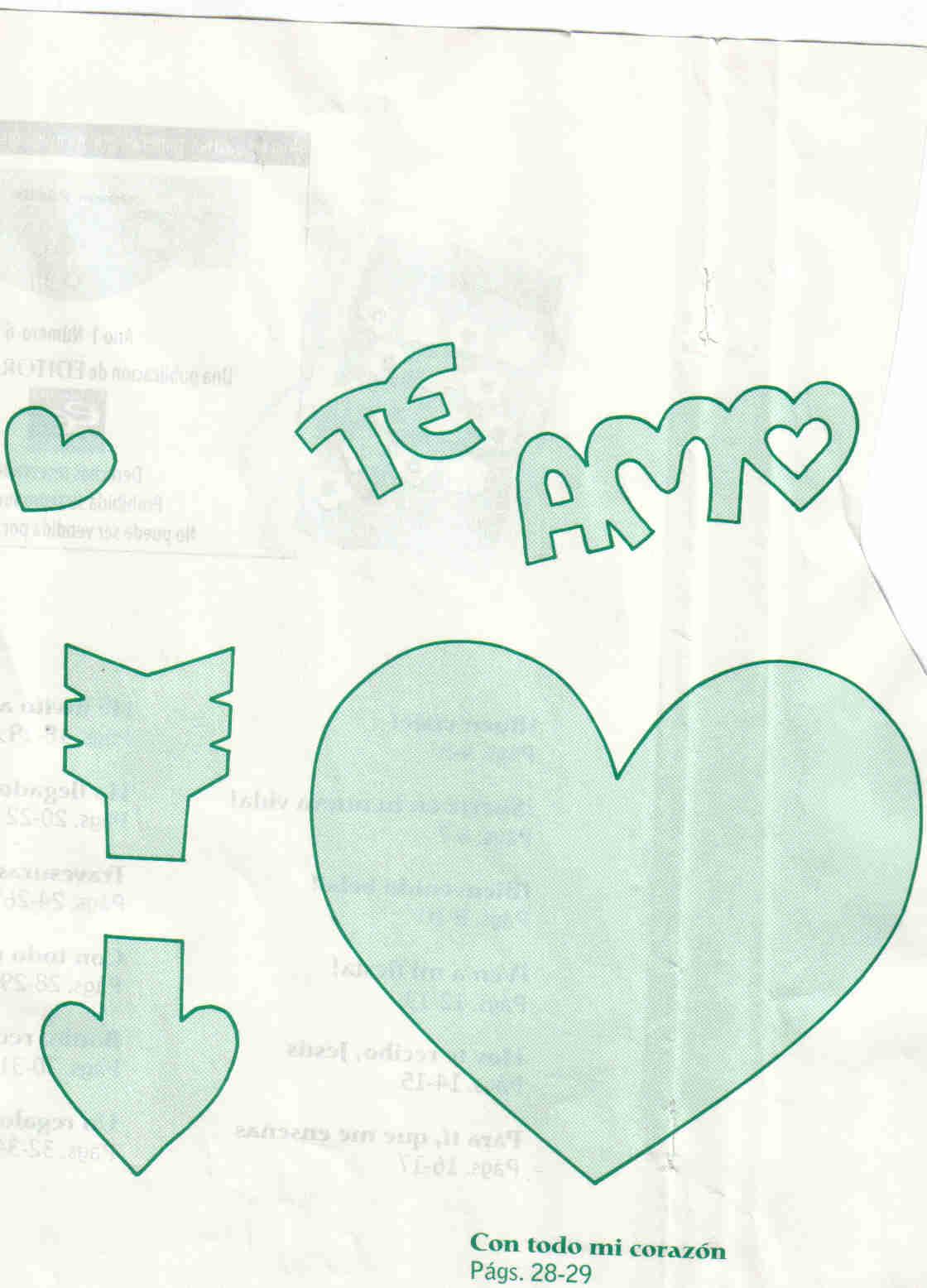 corazon san valentin Corazon TE AMO de San Valentin