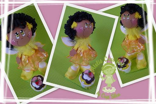 fairy amarela y azul 1 Bonecas Fairy Cakes Azul e Amarela