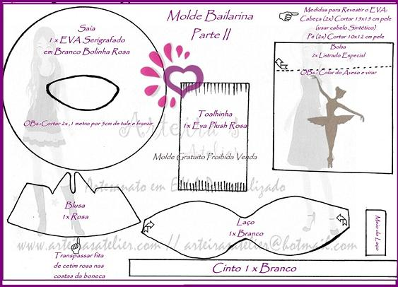 Fofucha bailarina de ballet
