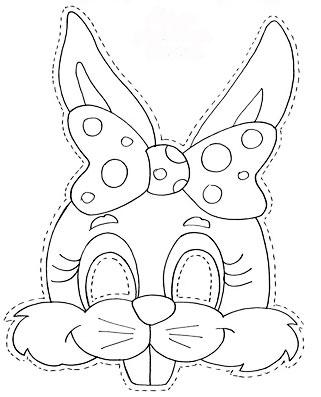 mascara coneja Mascaras de Conejo en Goma Eva