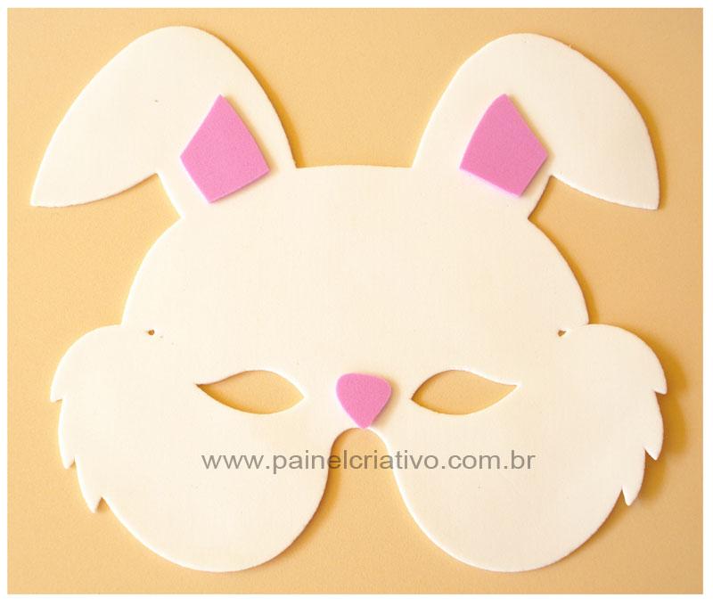 mascara conejo 2 Mascaras de Conejo en Goma Eva