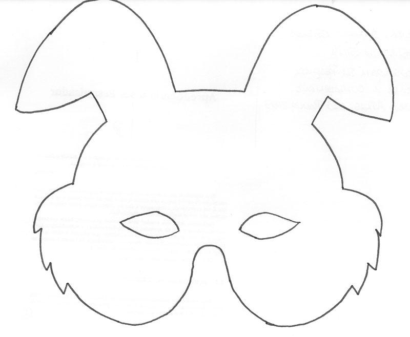 Mas moldes de Mascaras de Conejos!