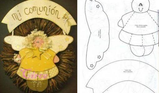 Souvenirs de comunion todo en goma eva - Adornos para comunion en goma eva ...