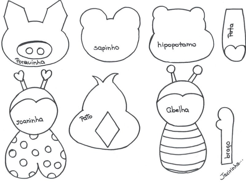 Moldes de animales en fomi gratis - Imagui