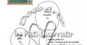 Molde Trio de Joaninhas