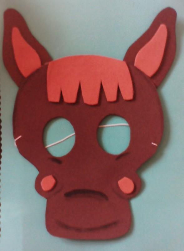 Moldes de mascaras de animalitos en foami - Imagui