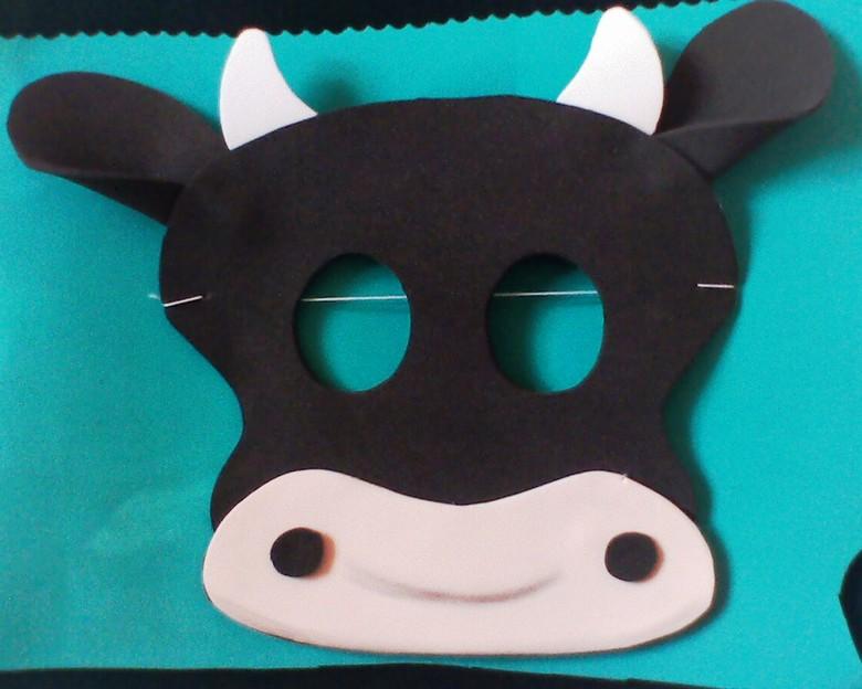 moldes de mascaras de animales en goma eva imagui