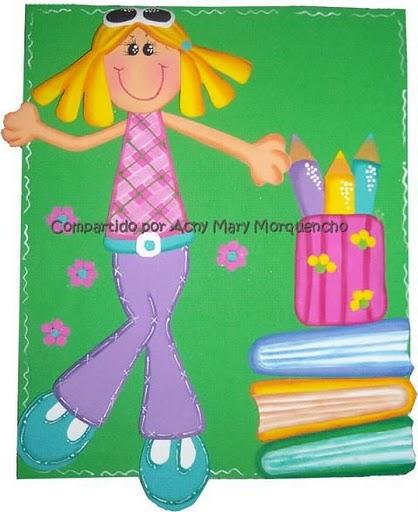 cuadernos y carpetas fofuchas planas manualidades en goma eva