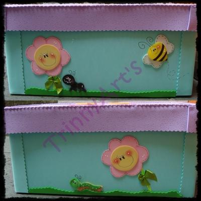Caja decorada para guardar los materiales manualidades - Goma eva decorada ...
