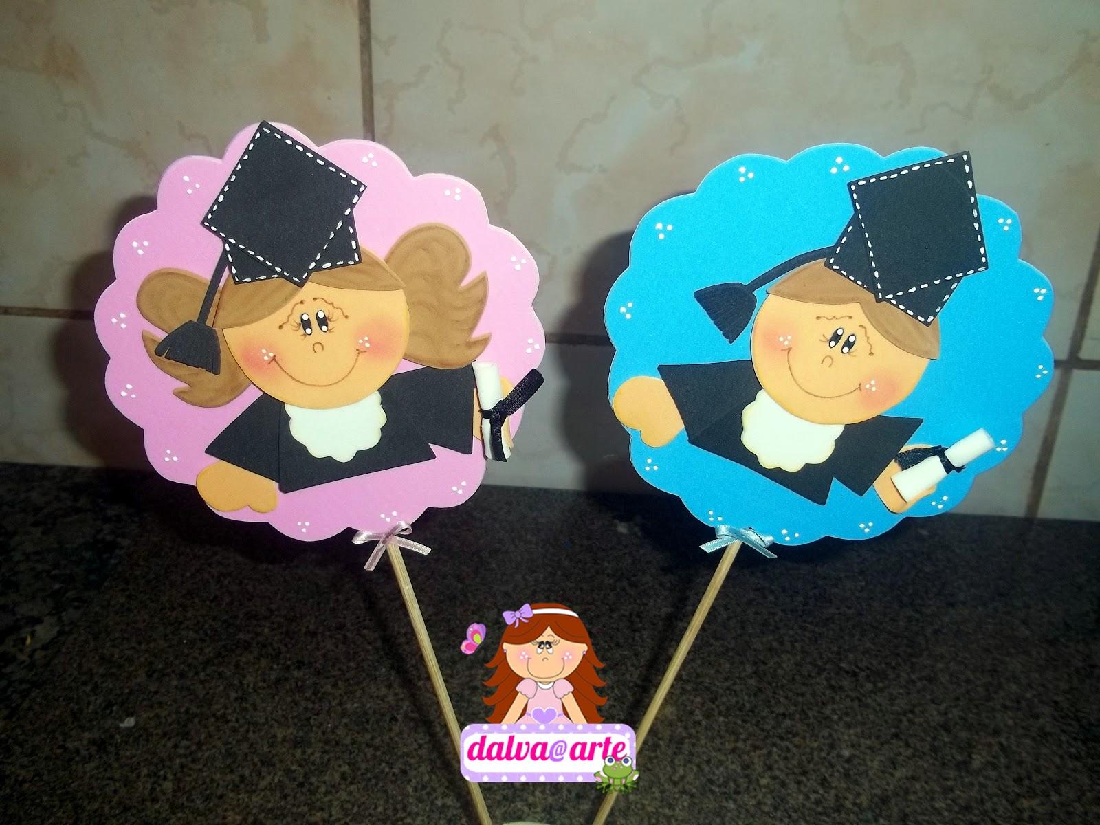 Souvenirs de graduaci n manualidades en goma eva y foami for Decoracion infantil goma eva