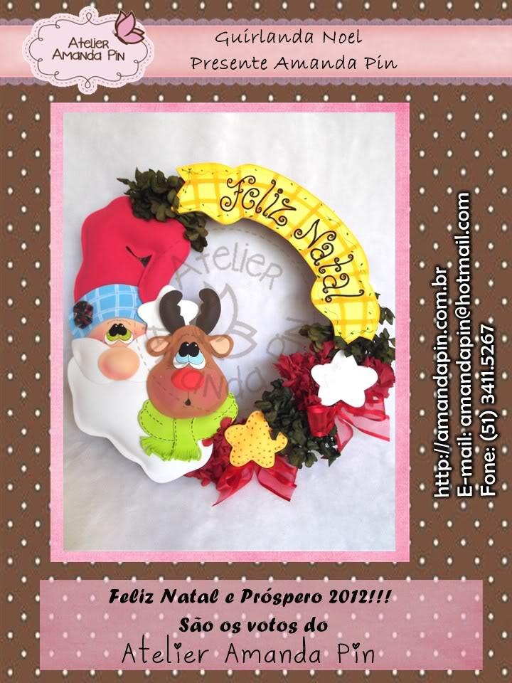 Guirnalda de navidad manualidades en goma eva y foami - Guirnaldas navidad manualidades ...