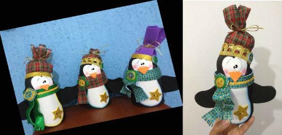 Pinguinos foami imagui - Decoracion navidad goma eva ...