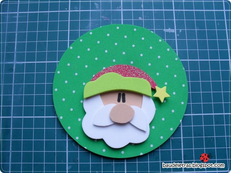 Adorno para el arbol de navidad manualidades en goma eva - Como hacer adorno de navidad ...