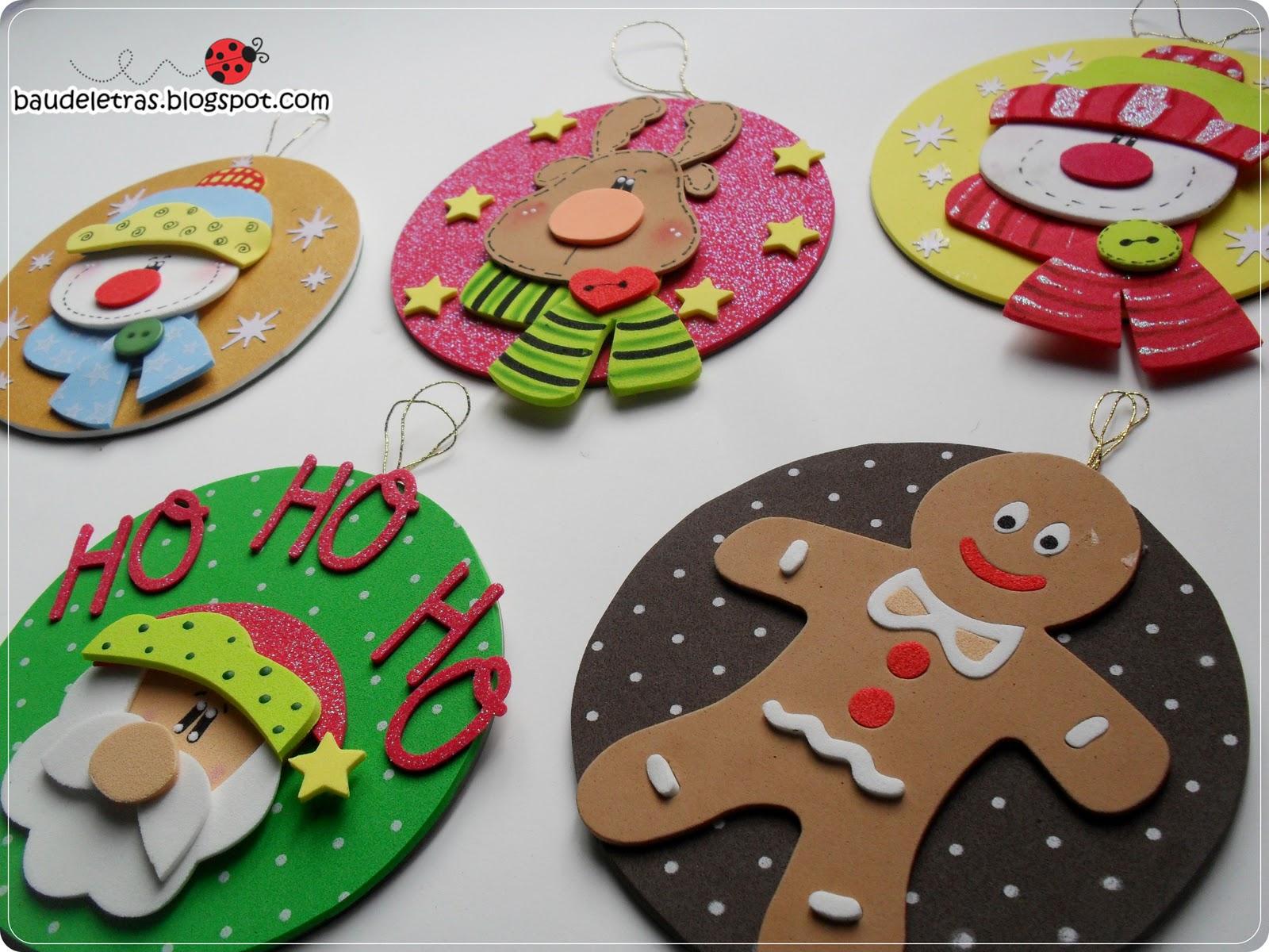 Moldes de adornos navide os manualidades en goma eva y foami - Manualidades munecos de navidad ...