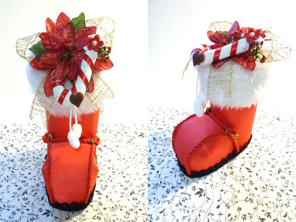 Bota de Navidad 3D PAP - Manualidades en Goma Eva y Foami