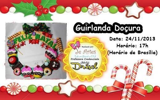 Guirnalda dulces de navidad manualidades en goma eva y foami - Guirnaldas navidad manualidades ...