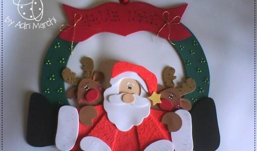 Guirnaldas de navidad todo en goma eva - Decoracion navidad goma eva ...