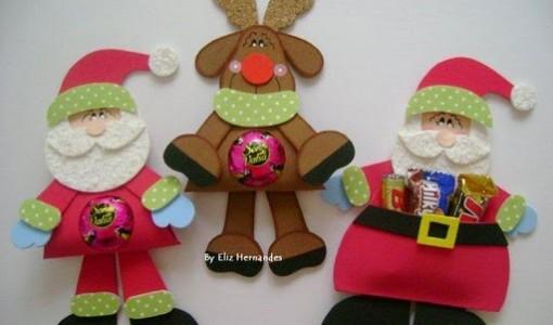 Bolsitas navide as de foami imagui for Manualidades con goma eva para navidad