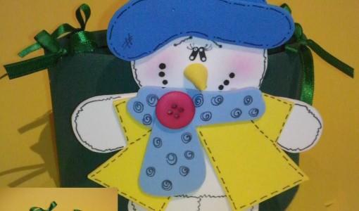 mu eco de nieve en goma eva manualidades en goma eva y foami
