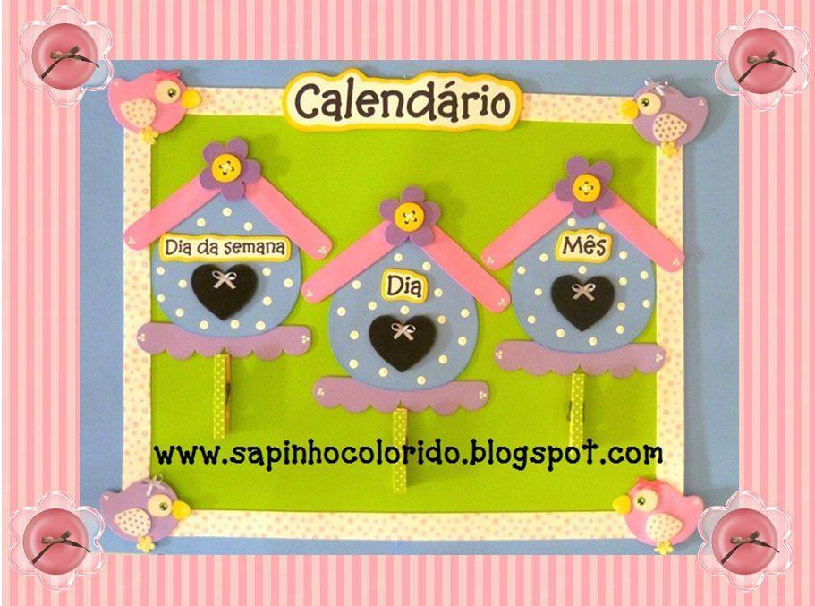 Calendario casita de pajaritos manualidades en goma eva for Calendario manualidades