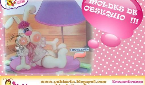 lampara conejo moldes1