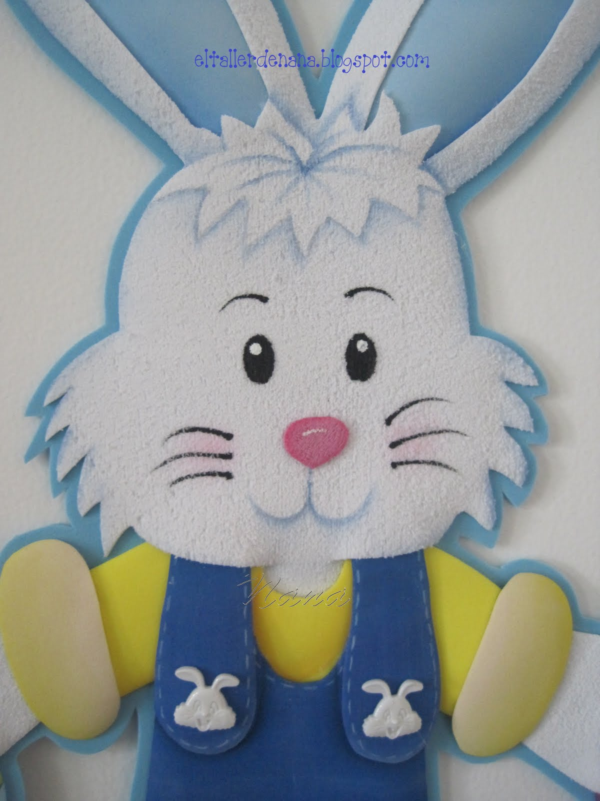 Conejo de Pascua 1 Todo en Goma Eva