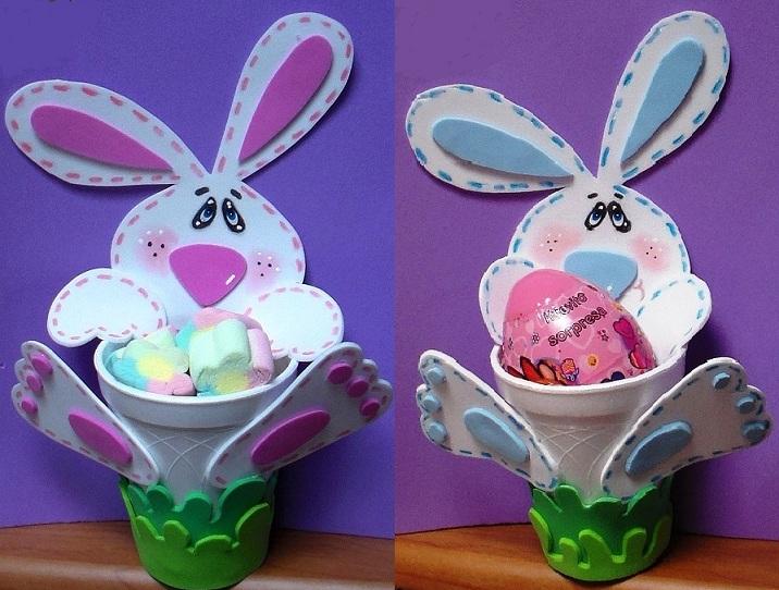 dulceros-conejos-foamy   Todo en GOMA EVA
