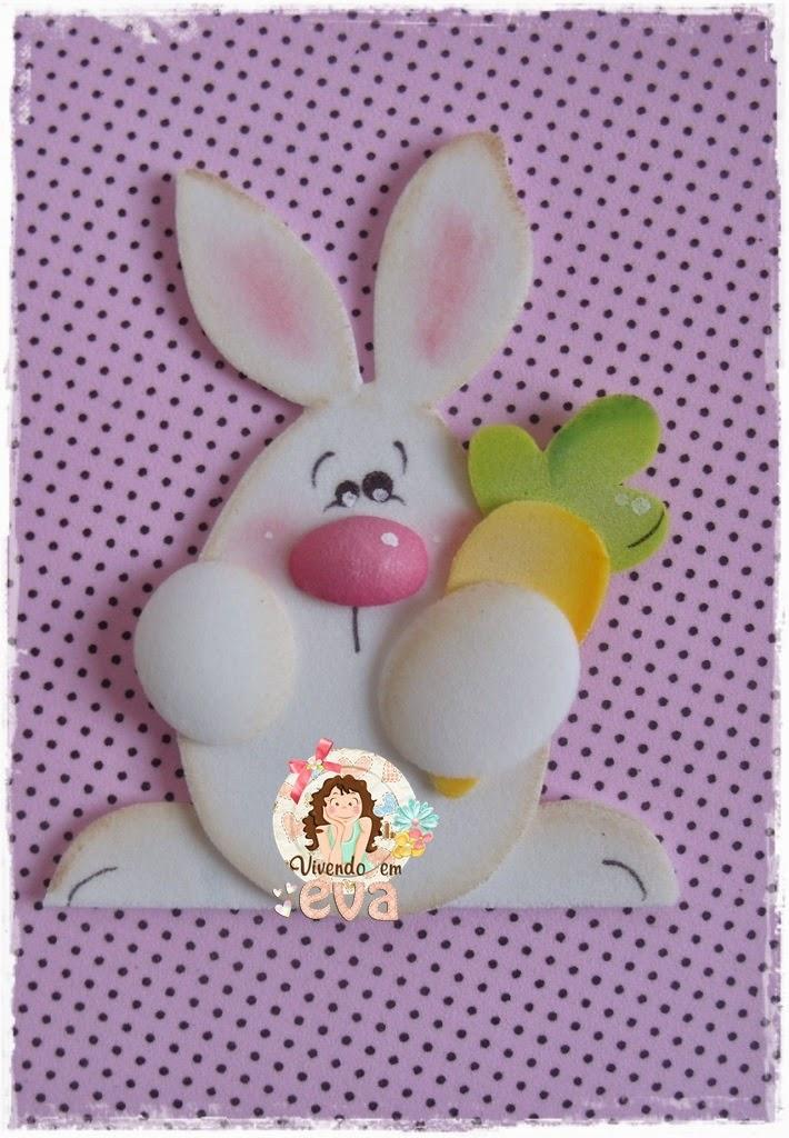 apliques conejos con zanahorias moldes manualidades en