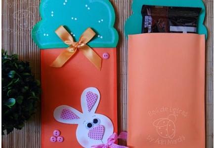 Zanahoria porta barra de chocolate