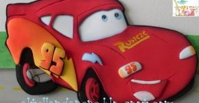 Rayo Mcqueen de Cars en Goma Eva
